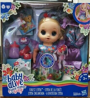 Forest Tales Forest Emma with Blonde Straight... Baby Alive Once Upon a Baby