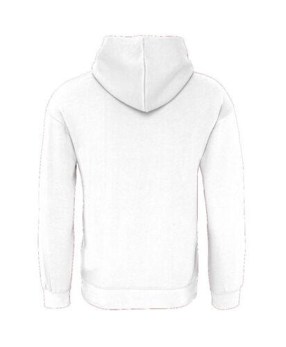 Cotton Ridge Mens White Plain Hoodie Hoody Sweatshirt Hooded Top Pink Printing
