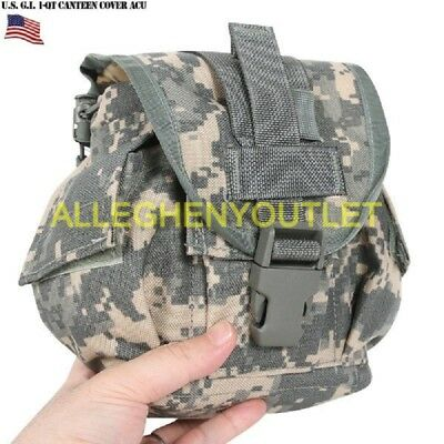 2 New US Military Canteens /& 2 New Canteen Pouches  ACU