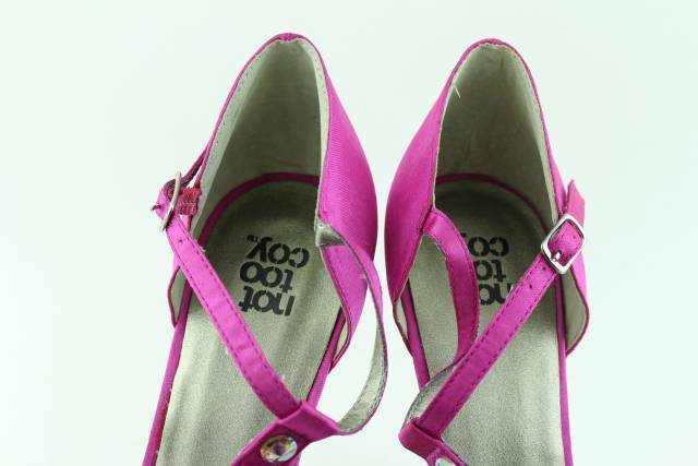Not Not Not Too Coy Playful Fuchsia Donna Dimensione 8.0 New Rare Authentic 5d8841