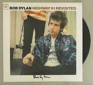 BOB DYLAN SIGNED AUTOGRAPH ALBUM VINYL RECORD HIGHWAY 61 REVISITED J. ROSEN REAL