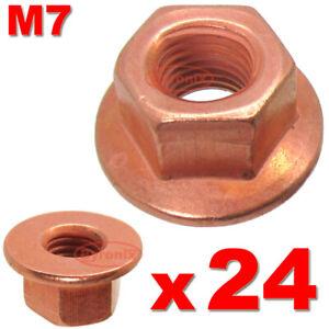 BMW-EXHAUST-NUTS-M7-MANIFOLD-E90-E92-E36-E46-3-SERIES-HEAD-STUD-LOCK-NUT-COPPER
