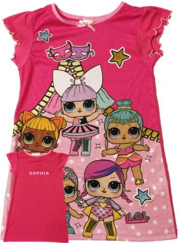 Girls LOL Surprise Nightdress Nightie Personalised With Name