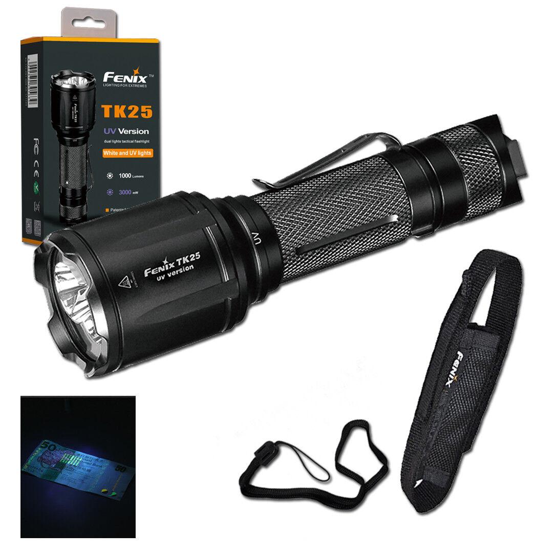Fenix TK25UV 1000 Lumen Tactical Flashlight with Ultralila Light