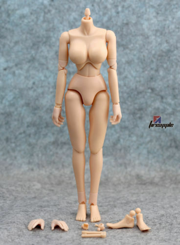 1:6 Scale Big Chest Female Action Figure Flexible Soldier Body Fit Hot Toys Head