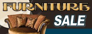 3ft x 8ft Furniture Sale (clsc) Vinyl Banner -Alt to Banner Flag 3'x8' (0095)