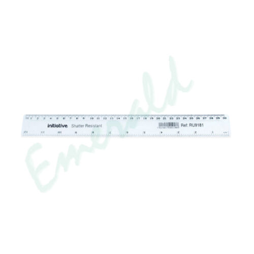 """12/"""" Home Office School College 3 x Shatter Resistant Clear Plastic Ruler 30cm"""