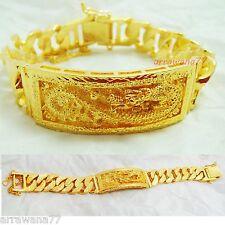 Dragon 22K 23K 24K THAI BAHT YELLOW GOLD GP  Bracelet 7.5 inch 69 Grams