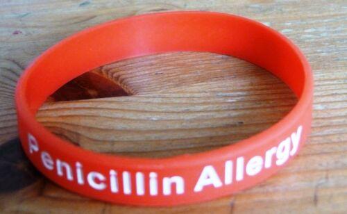Penicillin Allergy Silicon Bracelet Silicone Bracelet Penicillin Allergy