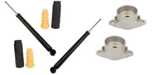 Rear Shock Absorbers Bump Stops Dust Covers Boots Mounts For Mazda 2 DY