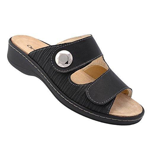 Orthopädische Schuhe OrthoVital Hallux Therapie 38 Pantoffel Damen schwarz Gr. 38 Therapie 7a1254