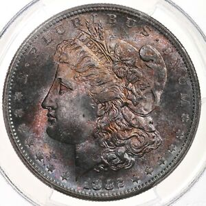 1882-S-Morgan-1-PCGS-Certified-MS65-Toned-San-Francisco-Mint-Silver-Dollar-Coin