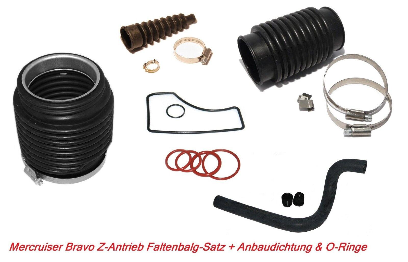 Faltenbalgsatz Mercruiser Bravo Z-Antriebe Bälge Wasserschlauch + Anbaudichtung