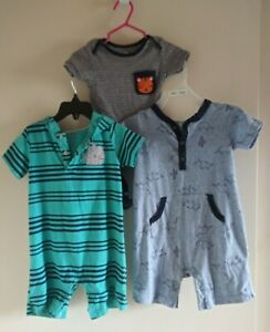 Lot Of 3 Baby Boy Clothes One Piece Suits Size 18 Months Ebay