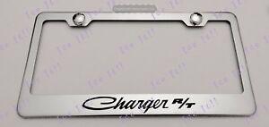 DURANGO DODGE HEMI Stainless Steel Black License Plate Frame Rust Free Caps