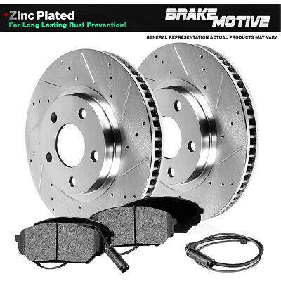 Front Rear Brake Discs Rotors Ceramic Pads Kit For BMW 335i 2007-2010 Drill Slot