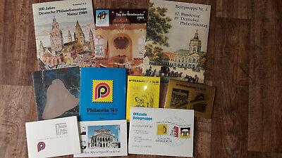 10 X Belegmappe Bund Ganzsachen Postkarten Sonderbelege Usw...