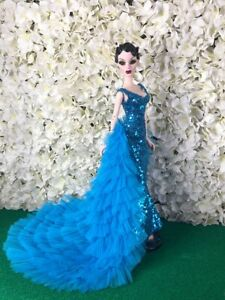 Light-blue-Coat-Outfit-Gown-Tonner-Evangeline-Ghastly-doll-only-ooak