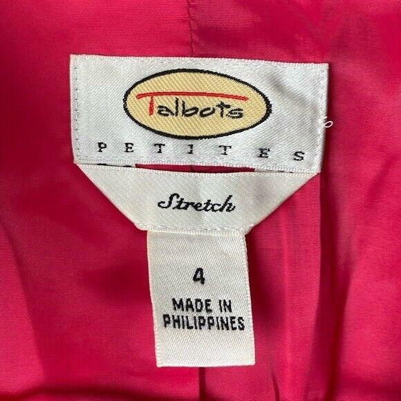 Talbots Paisley Stretch Velvet Red Blazer   70's … - image 5