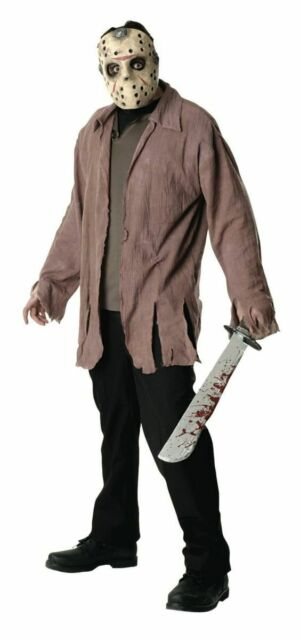 Rubies Jason Voorhees Friday the 13th Mask Jacket Adult Halloween Costume 16576