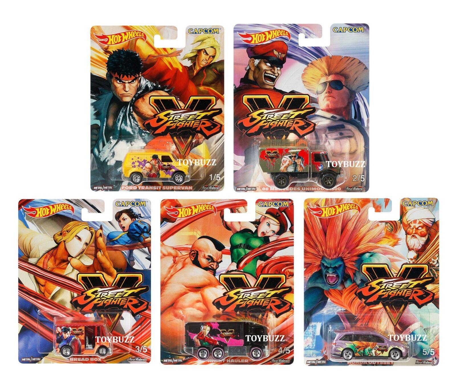 Hot Wheels 1 64 Cultura Pop 2018 DLB45-956S Estuche Sellado Capcom Street Fighter