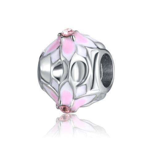 2018 European Silver CZ Charms Beads Pendant Fit 925 sterling Bracelet Chain