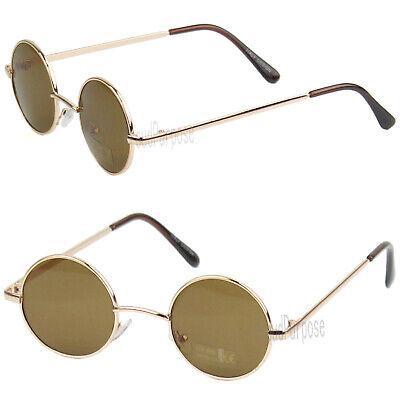 John Lennon Sunglasses Round Hippie Hipster Shades Retro Vintage 60s 70s Black