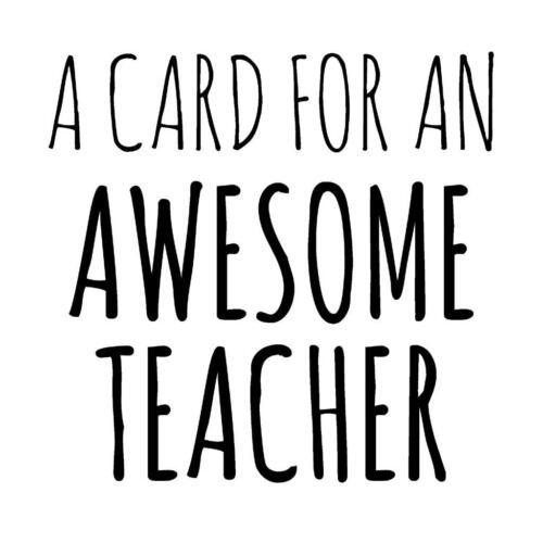 Une carte pour une impressionnante Teacher Merci bonne chance de quitter fin école carte vierge
