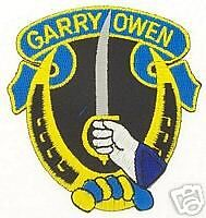 ARMY 7TH CAVALRY GARRY OWEN SHOULDER VEST PATCH