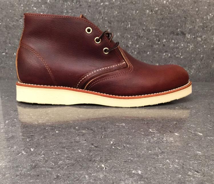 RED WING Stivali 3141 Classic Chukka Premium BRIAR marea nera calzature in pelle marrone