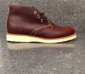 5118ba9bba4 Details about Red Wing Boots 3141 Classic Chukka Premium Briar Oil Slick  Leather Shoes Brown