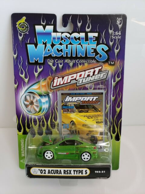 Muscle Machines Import Tuner '02 Acura RSX Type S Green 1/64
