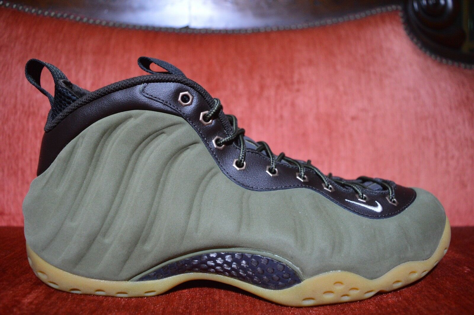 deac840f82 Worn 2x Nike Air Foamposite One Olive 575420-200 12 Suede Wheat All ...