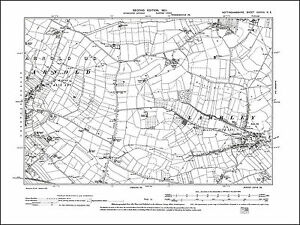 OLD ORDNANCE SURVEY MAP NORTH NOTTINGHAMSHIRE 1906 RETFORD BAWTRY SHIREOAKS