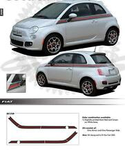 Fiat 500 Gucci stripes, DECALS for Body Panels, sticker kit