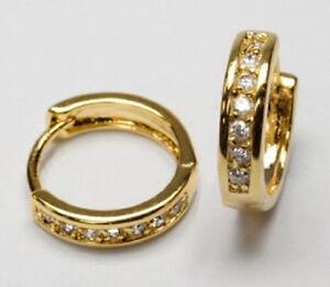GOLD DOUBLE *** Zirkonia Ohrstecker  vergoldet 7 mm