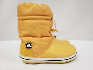 professional design new selection how to purchase Details about New Crocs Women's Crocband Winter Snow Boots, Mid-Calf,  Yellow, Size 4, 6, 7