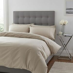 NEW-Silentnight-100-Cotton-Single-Cover-amp-1-Pillowcase-Set-Taupe