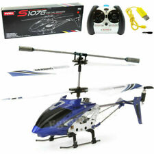 Syma S107 S107G 3.5CH Alloy Mini Remote Control RC Helicopter Gyro Blue