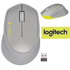 Details about Logitech M320 Wireless Mouse Optical NEW RETAIL PC Laptop Mac  SILVER/ YELLOW