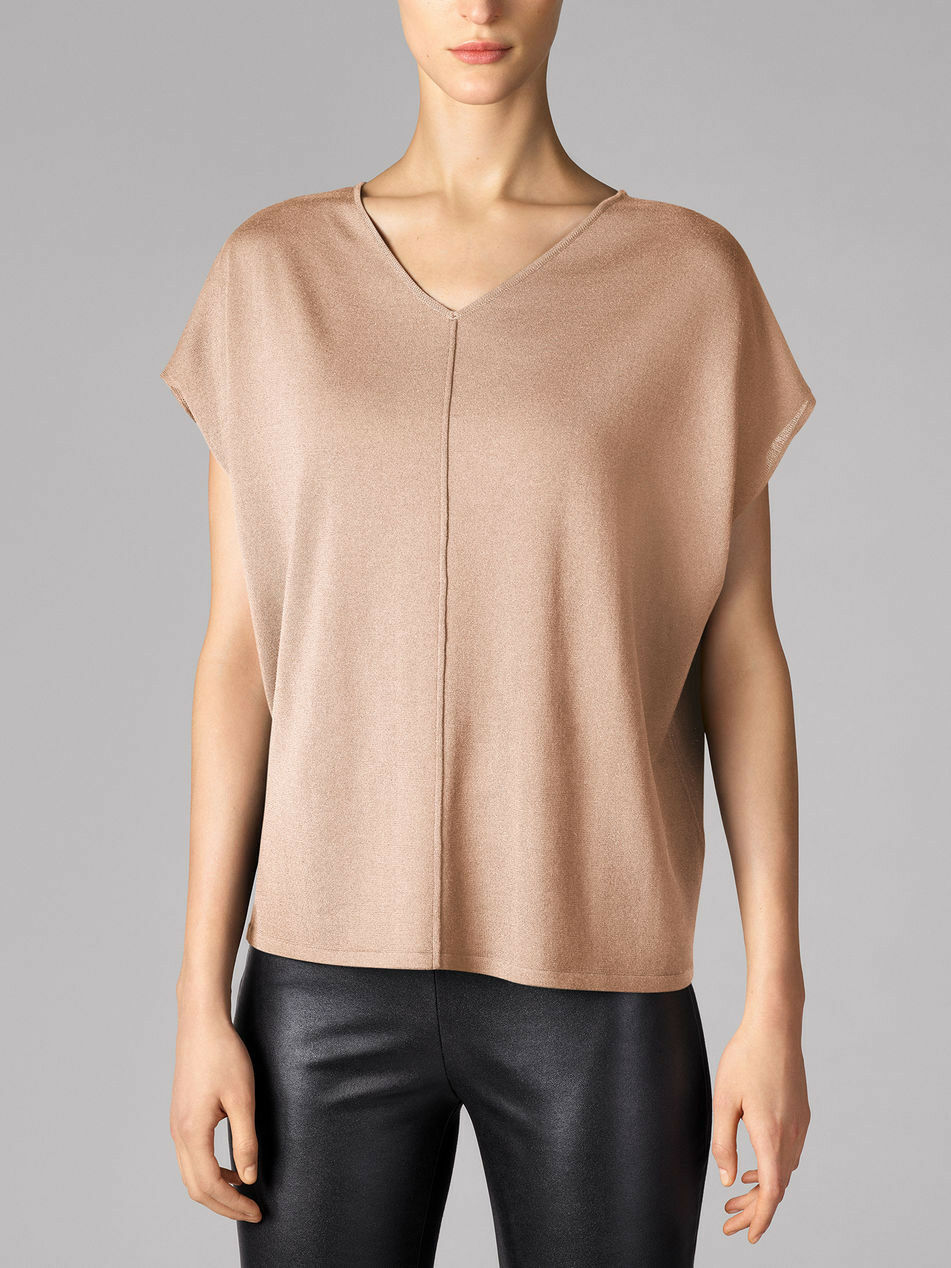 Wolford Fine merino Top xs Rosa tan OVP