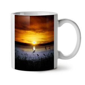 Landscape Lake Sun NEW White Tea Coffee Mug 11 oz | Wellcoda