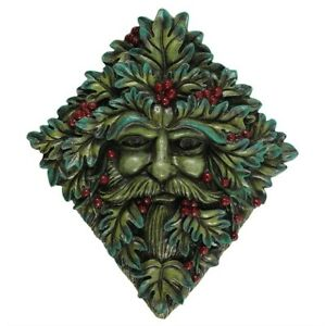 Festive-Green-Man-Wall-Plaque-22-5-x-20cm-Brand-New