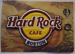 Hard-Rock-Cafe-Classique-Logo-Patch-Boston-Massachusetts-Fer-Coudre-Sur-Neuf
