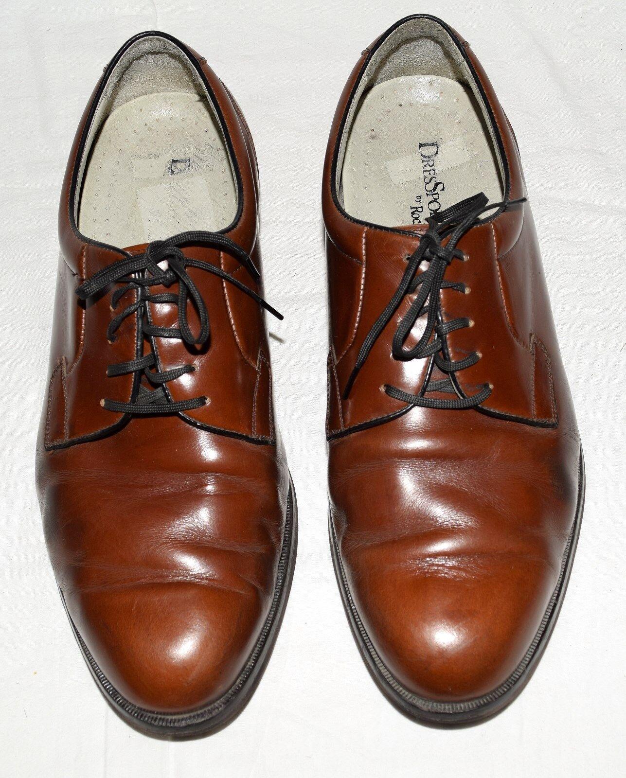 Vtg Rockport Dressport Brown Pelle Uomo Oxford Shoes Sz 9 W Made in Yugoslavia