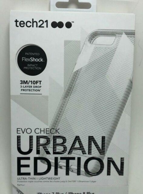 new style a3fda 60ab7 tech21 EVO Check Urban Edition Case Clear White iPhone 7 Plus