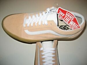 1b6811be38 Vans Mens Old Skool Double Light Gum Apricot White Suede Skate shoes ...