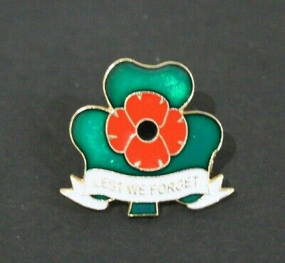 St Patrick/'s Day Shamrock Green UK Military Veteran Army Poppy Pin Badge Brooch
