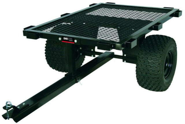 Off Road Atv Trailer Dump Cart Stake Rack Utility Wagon Hunting Logging Field For Sale Online