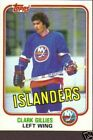 1981 Topps Clark Gillies #88 Hockey Card